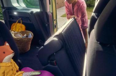 Nový Caddy skládání zadních sedadel