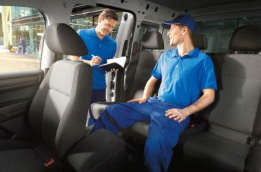 Caddy - prostor na zadních sedadlech
