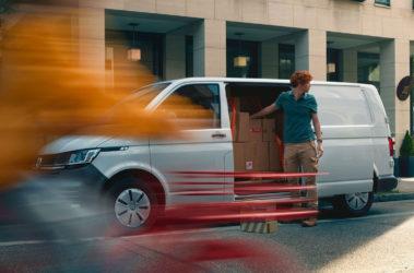 Nový Transporter skříň boční pohled