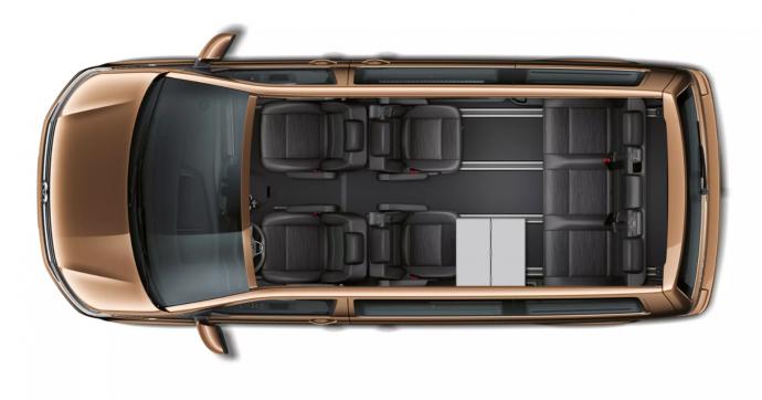 Nový Multivan variabilita sedadel