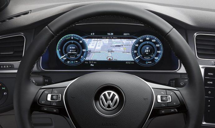 Volkswagen e-Golf kokpit